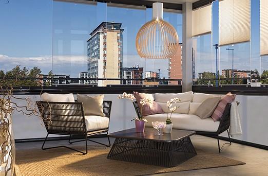 Disfruta de tu terraza en invierno, con los acristalamientos de Lumon